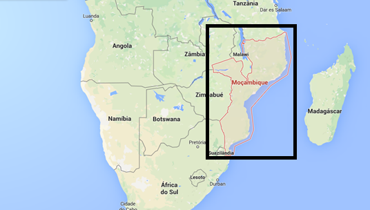 Moçambique map