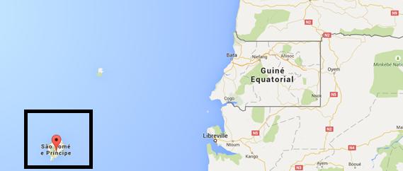 São Tomé e Principe map