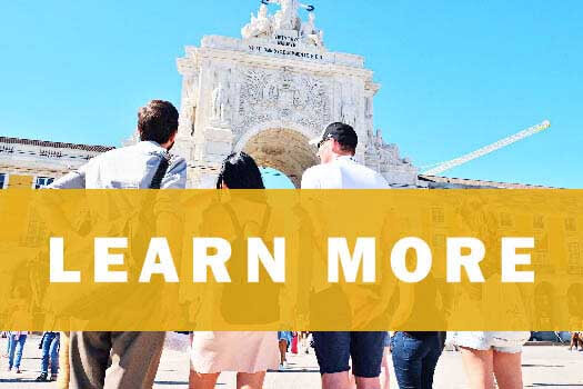 Learn Portuguese in Lisbon - Summer Course header menu banner